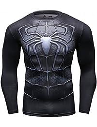 CT79 Kompression Muster Langarm-Shirt Grundschicht für Sport Fashion