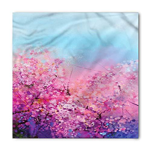 MSGDF Flower Bandana, Blooming Sakura, Unisex Bandana Head and Neck Tie Neckerchief Headdress Silk-Like 100% Polyester - Sakura Womens Jersey