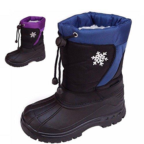 Chaussures pour enfants winterschuhe (46b) winterstiefel Bottes garçon, fille Chaussures Nouveau Multicolore - Bleu marine