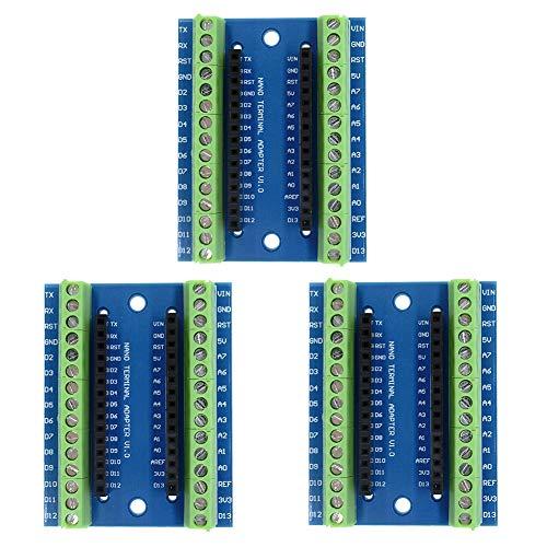 IZOKEE 3PCS Tarjeta de Expansión Nano Terminal Adaptador para Arduino Nano V3.0 Módulo
