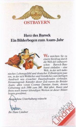 OSTBAYERN. Herz des Barock. Ein Bilderbogen zum Asam-Jahr.( VHS Videokassette)