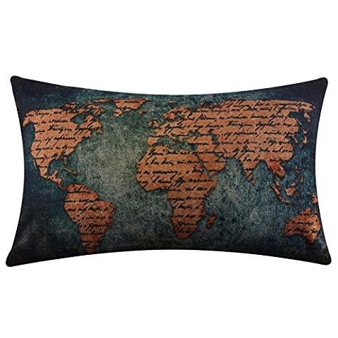 Taie d'oreiller, Ammazona Lin Lin Couvre-lit Taie d'oreiller décoratif Taie d'oreiller Housse de coussin, Coton & lin, a, 30cm x 50cm