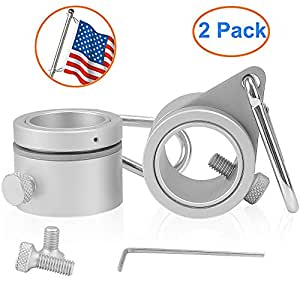 2Pcs Anti-Wrap Flag Pole Rotating Mounting Rings Holder Grommet Clip Tools Hot