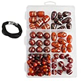 #5: eshoppee fancy glass beads jewellery making art and craft diy kit (red)