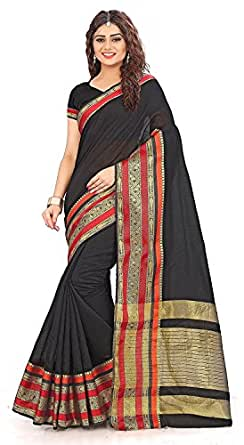 Royal Export Cotton Silk Saree With Blouse Piece (S3_Blue_Free Size)