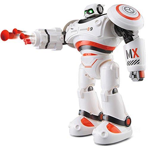 Kit Roboter-hand (RC Roboter Defender JJRC R1Intelligente programmierbar Dancing Walking Robot Combat Schiebetür Tell Stories Launch Raketen in verschiedene Richtungen von den Armen für Kinder Geburtstag Urlaub Geschenk Orange)