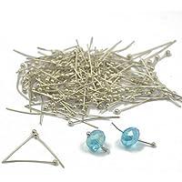 """200Stück 20mm versilbert Ball Pins 'Nietstifte""""für Jewelry Craft Ergebnisse"""