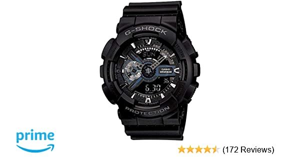 9d23fe232 Buy Casio G-Shock Analog-Digital Black Dial Men s Watch - GA-110-1BDR  (G317) Online at Low Prices in India - Amazon.in