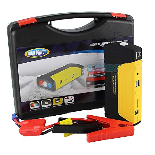 QUARK Power Bank 16800mah Portable Car Multifunktionale Jump Starter Emergency Power Supply for 12v Gasoline Diesel mit Werkzeugkasten (12 Volt Portable Power Supply)