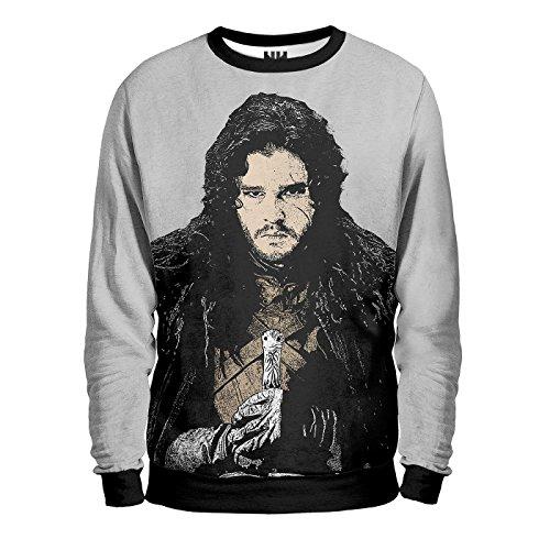 JON SNOW - TRONO DI SPADE Sweatshirt - Felpa Uomo - Valar Morghulis, George Martin Game of Thrones, T-Shirt Arya Stark