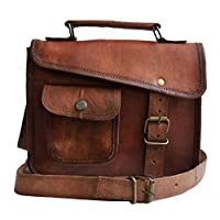 Jaald- Stijlvolle mannen Echt Leer Bruin Schouder Messenger Paspoort Tas Ipad 1 2 3 4 Ipad Mini Tablet Satchel Murse Band Sling Tas Lederen Tas Cross Body Bag Man portemonnee notebooktas