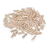 FITYLE 100 Pinces en Bois épingle Pinces à Linge Papier Photo Clips F Artisanat Maison Partie Décoration - 4.8cmx0.7cm