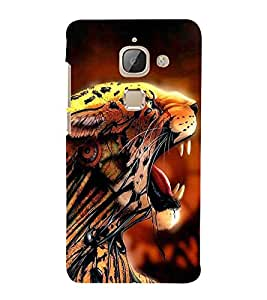 FUSON Tiger Angry In Jungle 3D Hard Polycarbonate Designer Back Case Cover for LeEco Le Max 2 :: LeTV Max 2