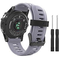 MoKo Armband für Garmin Fenix 3 / Fenix 5x Sport Watch - Silikon Sportarmband Uhr Band Strap Ersatzarmband Uhrenarmband mit Werkzeug für Garmin Fenix 3 / Fenix 3 HR GPS Smart Watch, Lavendel