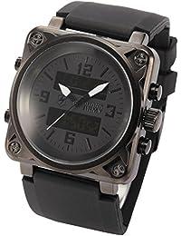SHARK Montre Homme ARMY Digital Analog Sport Alarm Chronographe Bracelet Caoutchouc SAW080