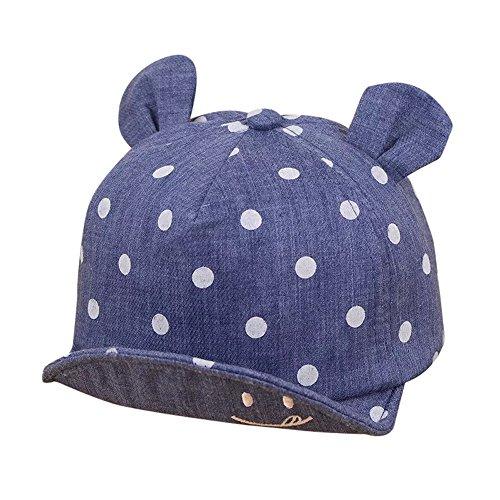 Topgrowth cappello bimbo estivo bambina unisex orecchie sorridente cappellino da baseball viaggio outdoor sport cappello da sole (blu scuro)