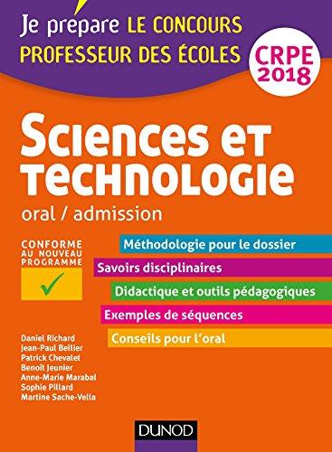 Sciences et technologie - Professeur des écoles - Oral, admission - CRPE 2018 (Concours enseignement)