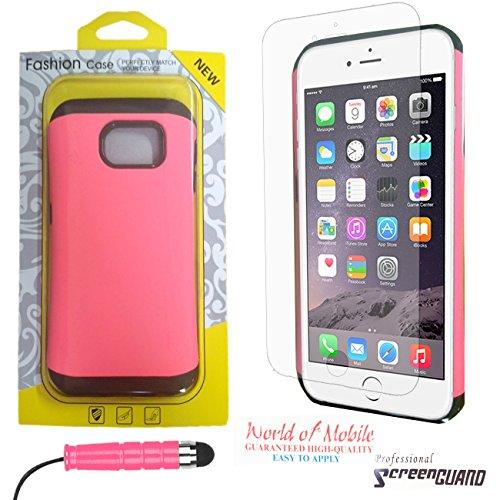 Apple iPhone 55G 5S–QUALITÉ Premium Étui portefeuille à rabat en cuir PU avec film protecteur d'écran chiffon en microfibre Stylet + Écran LCD - - Yellow Smiley Character 3D Eyes Side Book Wallet, - Pink Silicone Gel Fashion Case