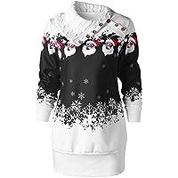 Geili Damen Weihnachten Kleider Weihnachtsmann Schneeflocke Drucken Sweatshirtkleid Langarm Sweatshirt Pullover... preisvergleich bei billige-tabletten.eu