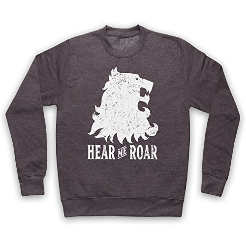 The Guns Of Brixton Game Of Thrones Lannister Lion Head Sigil Hear Me Roar Erwachsenen Sweatshirt, Holzkohle, Medium -