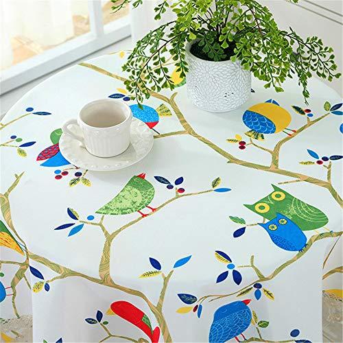 SONGHJ Tischdecke Baumwolle Leinen Esszimmer dekoriert kann die Tischdecke Öl und Wasser Proof E Durchmesser 180cm waschen (Altmodische Zitrone)