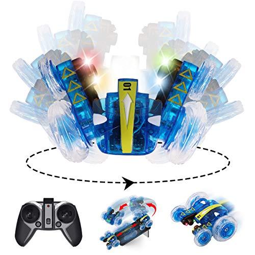 MAXXRACE Remokids Ferngesteuertes Autos, Elektrisches RC Spielzeug, Remote Control Auto Whit mit leistungsstarken LED,2,4 GHz,360 Flip,2 Seiten Laufen,15MPH, Off-Road-Fahrzeug, Geschenke für Kinder