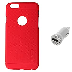 Nillkin Super Frosted Shield Back Cover For iphone 6 PLUS with Car Dock-RED