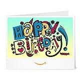 Happy Birthday (Doodle) - Printable Amazon.co.uk Gift Voucher
