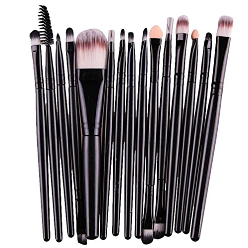 Internet 15 pcs / Définit la Fondation Eyeshadow Sourcils Lip Brush pinceaux de maquillage outil