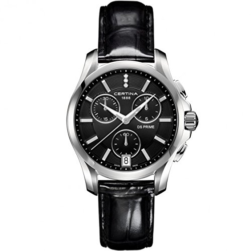 Certina Femme Montre bracelet quartz chronographe cuir c004.217.16.056.00