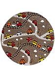 Eisenbahn - Strasse - Strassenteppich - Kinder Teppich - Kinderteppich - Teppich - Läufer - darf in keinem Kinderzimmer fehlen ca. 133 cm