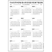 Octagon Design–Calendario de pared para 2017, tamaño A0