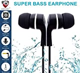 #10: Amore Stereo Earphone Hands-Free 3.5Mm Jack In-Ear Super Extra Bass Headphone Headset With Mic Compatible with Samsung, Motorola, Sony, Oneplus, HTC, Lenovo, Nokia, Asus, Lg,Oppo,Vivo, Coolpad, Xiaomi, Micromax and All Mobiles