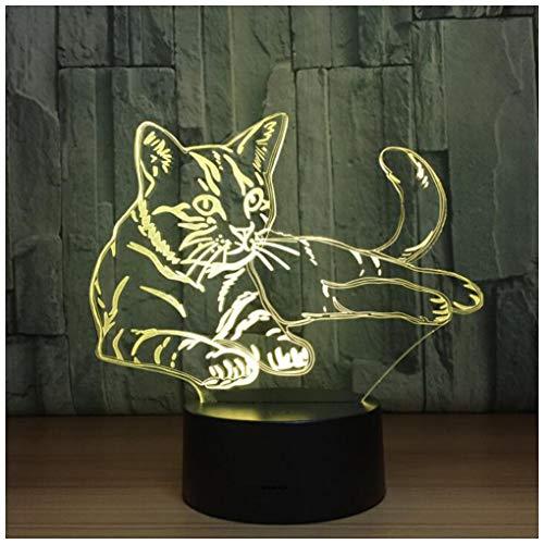 r Kinder 3D Illusion Nachtlicht-7 Farben USB-angetriebene Dekorlampe mit Touch/Fernbedienung für Mädchen Jungen Weihnachten Halloween Geburtstagsgeschenk,Touch ()