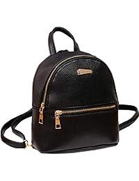 INVERSE Backpack Women Leather School Rucksack College Shoulder Satchel Travel Bag