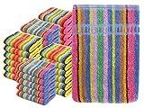 npluseins Waschhandschuhe Multi-Pack - Waschlappen Baumwolle bunt 1442.2027, 5...