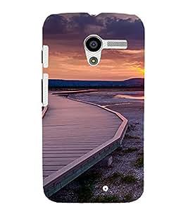 PrintVisa Travel Sunset Design 3D Hard Polycarbonate Designer Back Case Cover for Motorola Moto X
