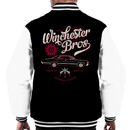 Supernatural Winchester Bros Car Family Since 1983 Men's Varsity Jacket (Supernatural Deans Jacke)