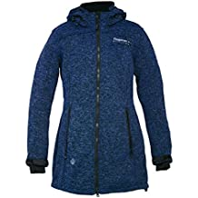 DEPROC Active abrigo de forro polar mujer Elkford Long Jacket Lady Azul light blau Talla:48