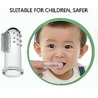 Cepillo de dientes y cepillo de dientes del dedo del silicón de Baby Kid Soft Dientes
