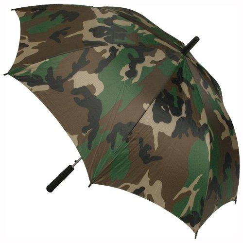 Großer Regenschirm in Woodland-Tarnmuster fürs Golfen, Festivals, Angeln, Zelten und Wandern.