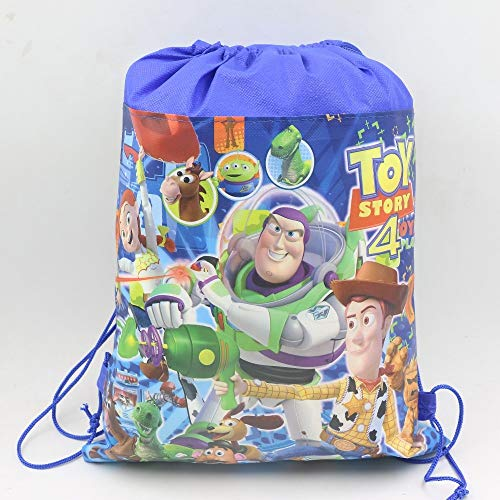 Tyro 1pcs/Lot Kids Favors Gifts Non-Woven Fabric Backpack Gift Bags Birthday Party Toy Story Decoration Drawstring Bags Baby Shower