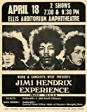 Jimi Hendrix 1969 reproduction Concert photo affiche 40x30cms
