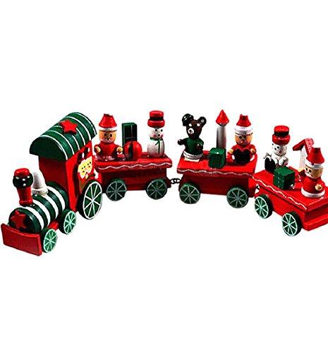 Malloom® Funny Wood Christmas Gift Xmas Mini Train Decoration Decor Gift