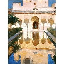 POSTERLOUNGE Poster 100 x 130 cm: Ambassador Hall in Alhambra de Joaquin Sorolla y Bastida - Reproduction Haut de Gamme, Nouveau Poster