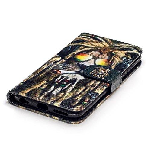 Custodia iPhone 6S 4.7 Cover iPhone 6 4.7,Ukayfe Stitching Colore Flip Case Cover per iPhone 6S 4.7,iPhone 6/6S Lussuosa Astuccio Custodia Cover [PU Leather] [Shock-Absorption] Protettiva Portafoglio  Leone 2#