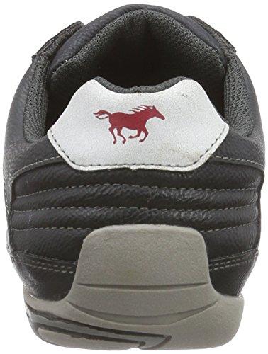 Mustang Schnürhalbschuh, Baskets Basses Homme Noir (95 Schwarz/rot)