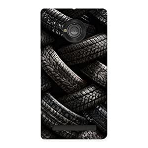Knot Tyre Back Case Cover for Yu Yunique