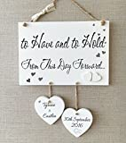 Personalised Handmade Wedding Typography Wooden Plaque Sign Gift W61