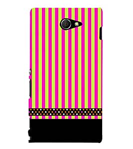 Lines Pattern Black 3D Hard Polycarbonate Designer Back Case Cover for Sony Xperia M2 Dual D2302 :: Sony Xperia M2